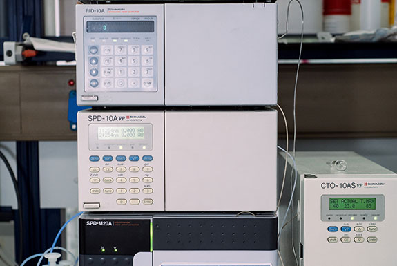 Chromatography units for organic pollutants analysis: HPLC